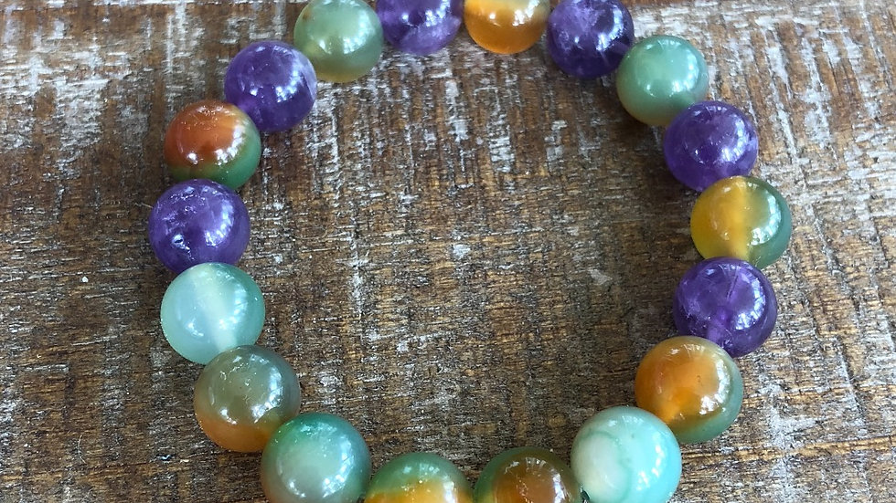 Indian Agate with Amethyst