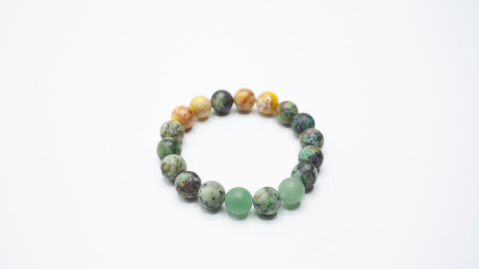 African Turquoise with Jasper and Jade