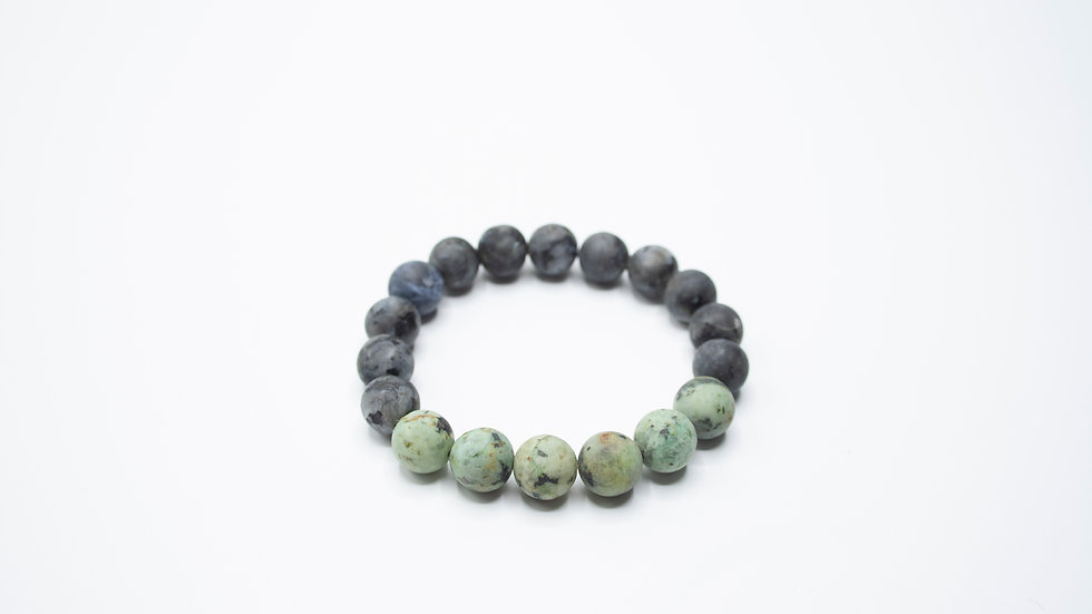 African Turquoise with Agate