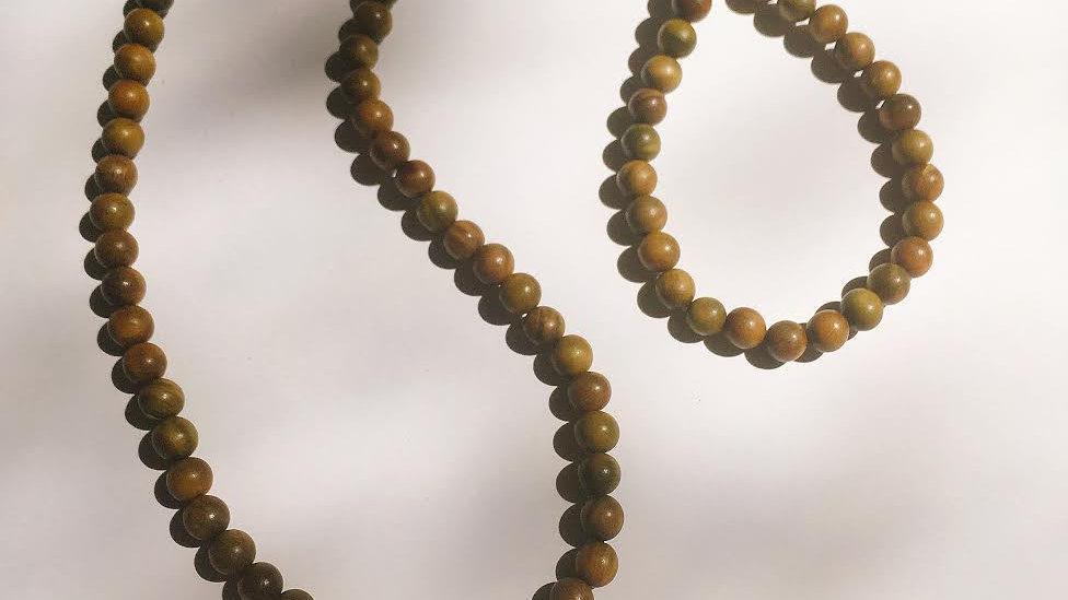 Buddhist Prayer Bead Mala Necklace & Bracelet