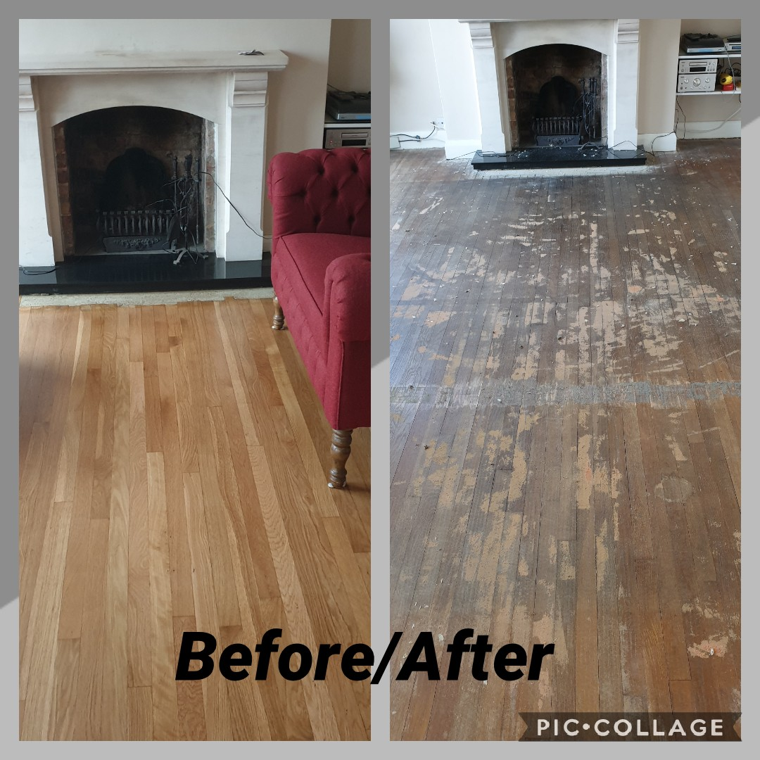 Oak Parquet flooring restored