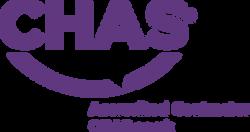 CHAS logo Purple and black RGB Accredite