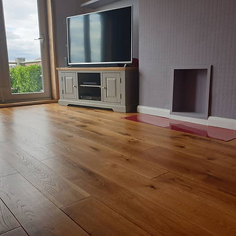 Oak engineered flooring sanded and Osmo