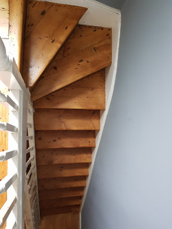 Pine Staircase After