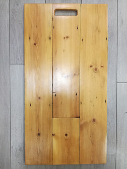 Sanded, Antique pine stained and lacquer