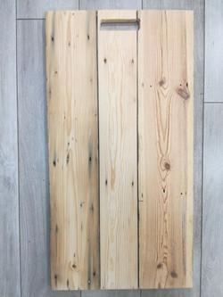 Bare sanded pine