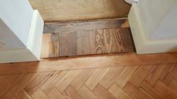 Peach Pine Floor Before