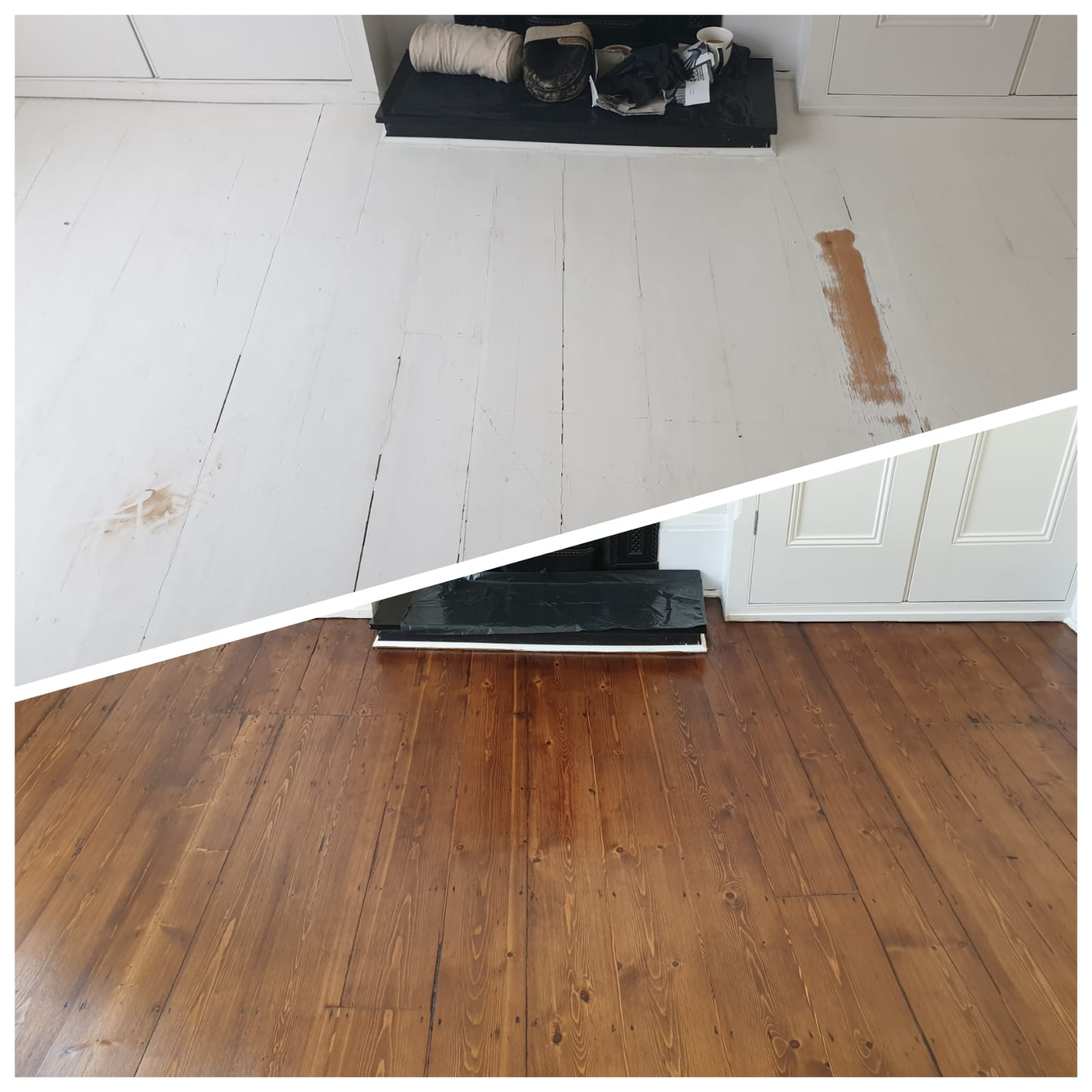 renovating painted white floors