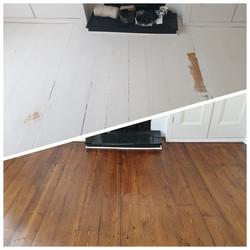 renovating painted white floors
