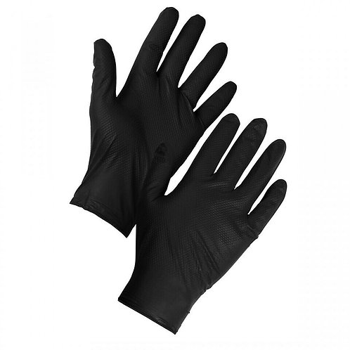 Supertouch Black Diamond Grip Nitrile Gloves