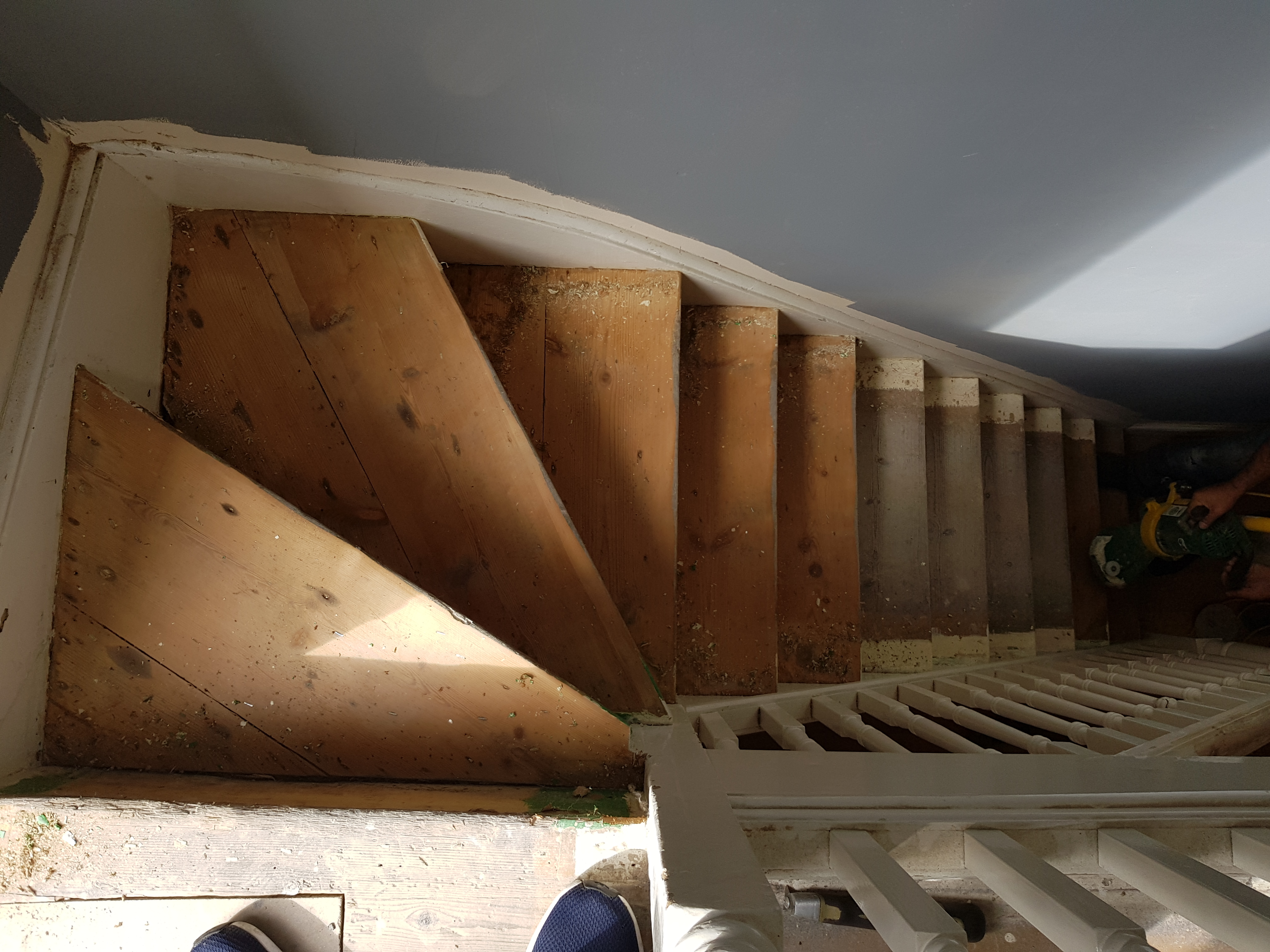 Pine Staircase Before