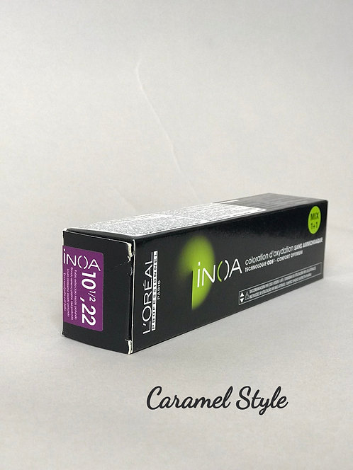 Фарба L'Oréal Prof INOA 10 1/2,22 дуже яскравий супер блонд глибокий перлам 60ml