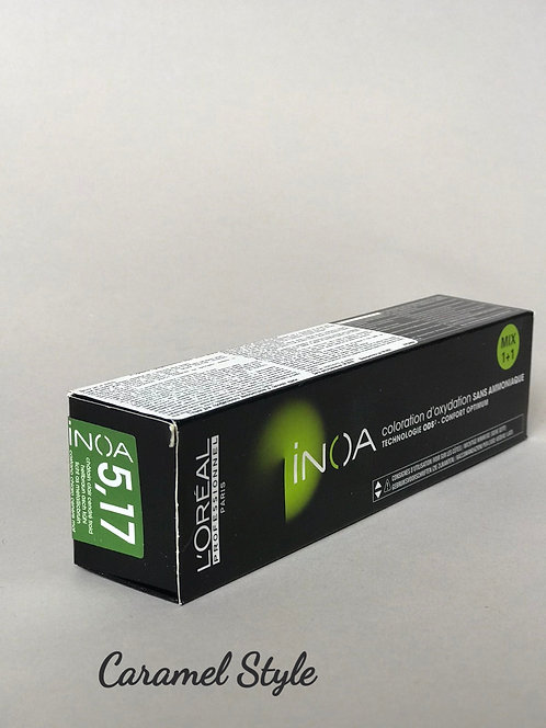 Фарба L'Oreal Professionnel Inoa 5.17 світлий шатен попелясто-металіз. 60ml