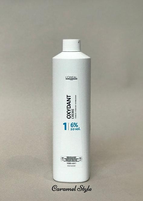 Косметичний крем пероксид L'Oreal Professionnel Oxydant 1 (6%) 1000 ml