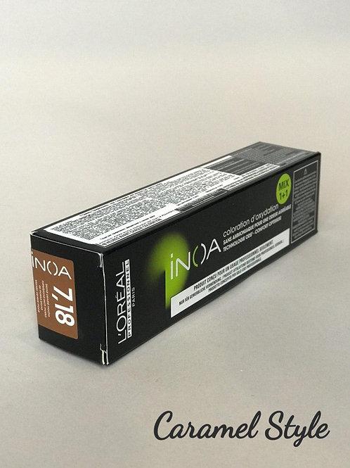 Фарба L'Oréal Professionnel INOA 7.18 Блондин попелястий мокка 60ml