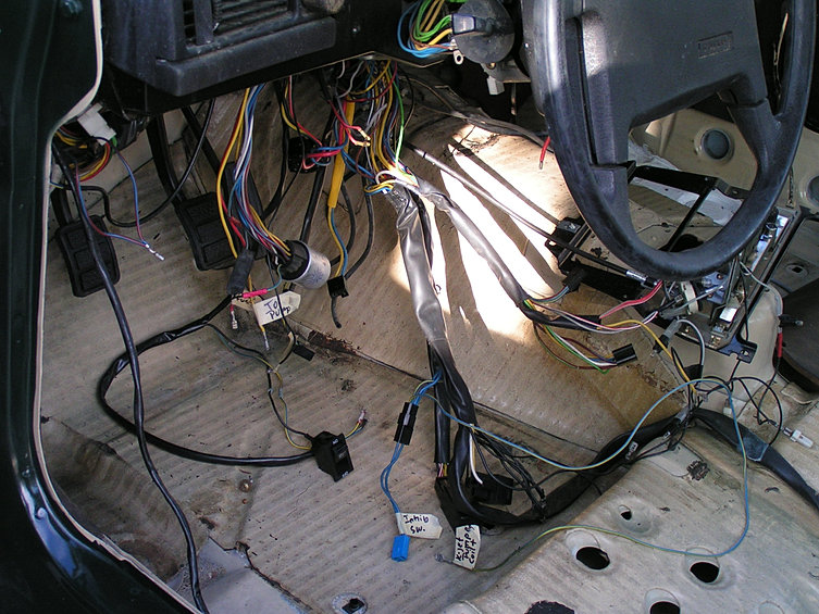 Wagonmeister Com Taz In Process Starter Wiring Diagram 1992 240 Volvo 1998 Volvo S70 Alternator Bolt Diagram On Upgrading From The Mechanical K Jet Injection To Electronic Lh2 2 Means A Ton Of Wiring This Is Just The Start