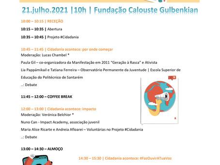 Seminário Cidadania Acontece! | 21 julho | Fundação Calouste Gulbenkian - Lisboa