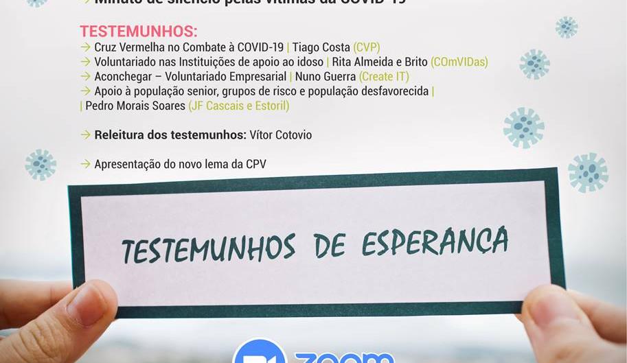 """Webinar """"COVID-19: Testemunhos de Esperança""""   21 de outubro 20h30"""