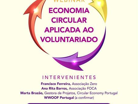"""Webinar """"Economia Circular aplicada ao Voluntariado"""" 26 de maio 17h00"""