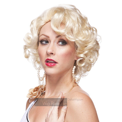 West Bay Sepia Synthetic Glamor Gal Wig