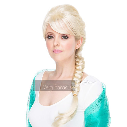 West Bay Sepia Synthetic Elsa Ice Queen Wig