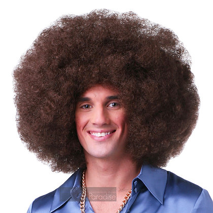 West Bay Sepia Synthetic Jumbo Afro Wig