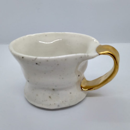 Porcelain Cup with Gold Lustre by Dana Lundmark