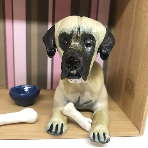 'Desmond the Great Dane' Dog Box by Sarah Robertson