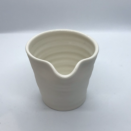 Thrown Porcelain Pourer by Roy Chandra
