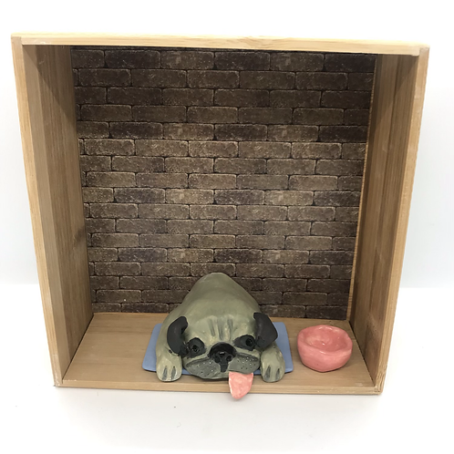 'Pugsley Ping the Pug' Dog House by Sarah Robertson.