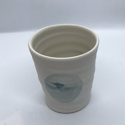 Thrown Porcelain Spotty Tumbler by Roy Chandra
