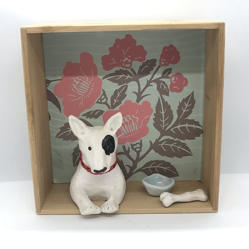'Twiggy the Bull Terrier' Dog House by Sarah Robertson