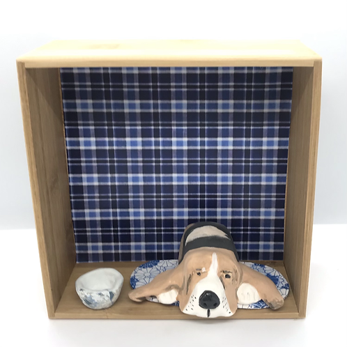 'Mabel the Basset' Dog House by Sarah Robertson
