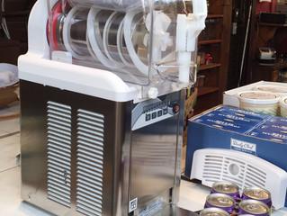 新しいソフトクリームマシン