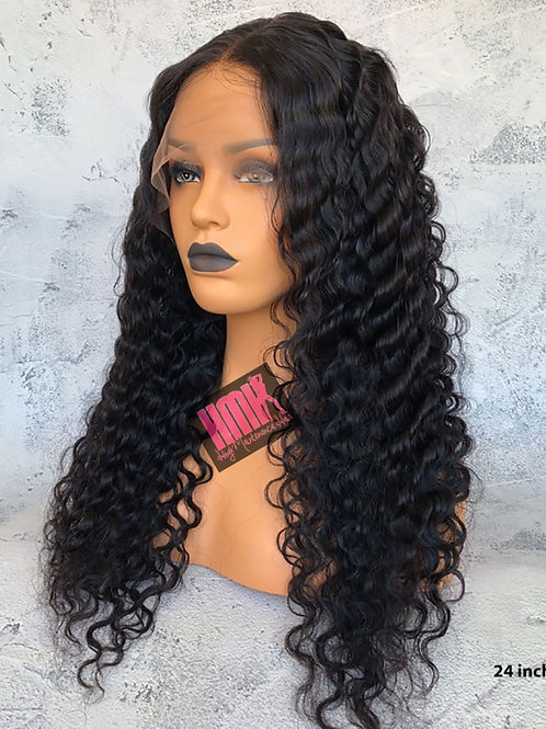 MALAYSIAN  DEEPWAVE LACE FRONTAL WIG