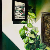 Grandma and the Philodendron.JPG