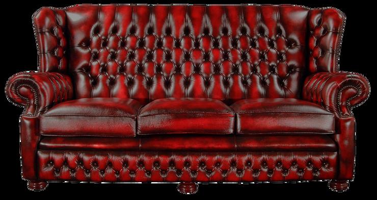 كنبة ٣ مقاعد موديل ألباني احمر - SF0103