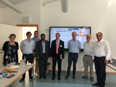 Successful HYBRIDize kick-off meeting with visit from the Ambassador of India