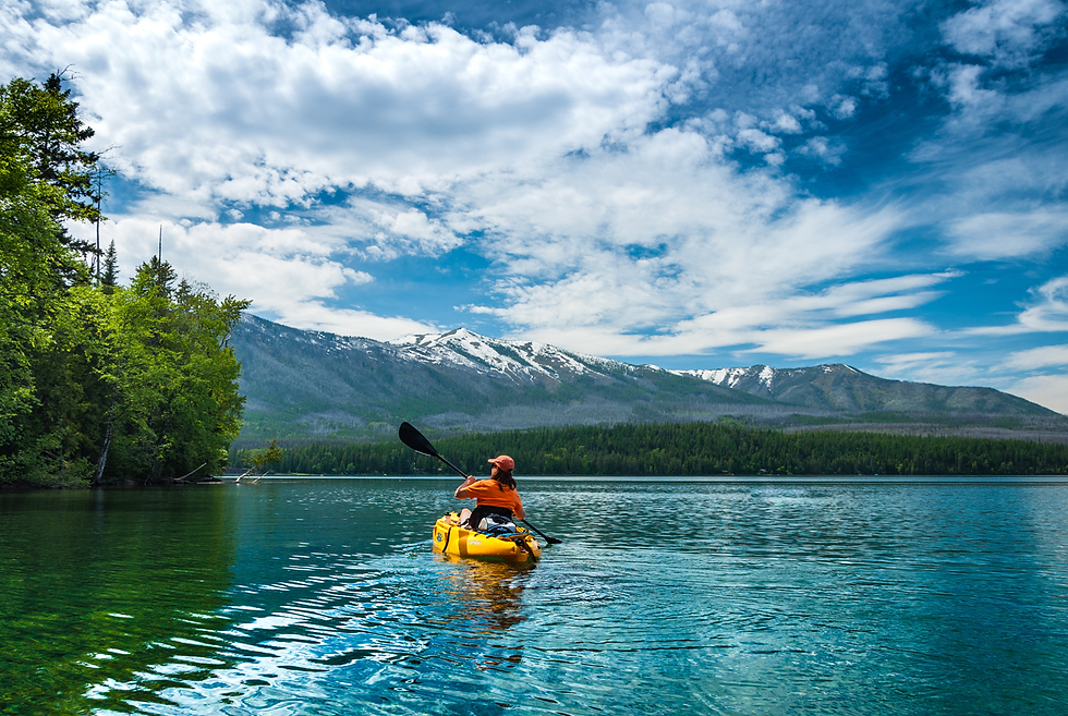 Kayak on Lake McDonald