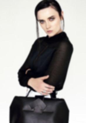 Model with Big Black Bag