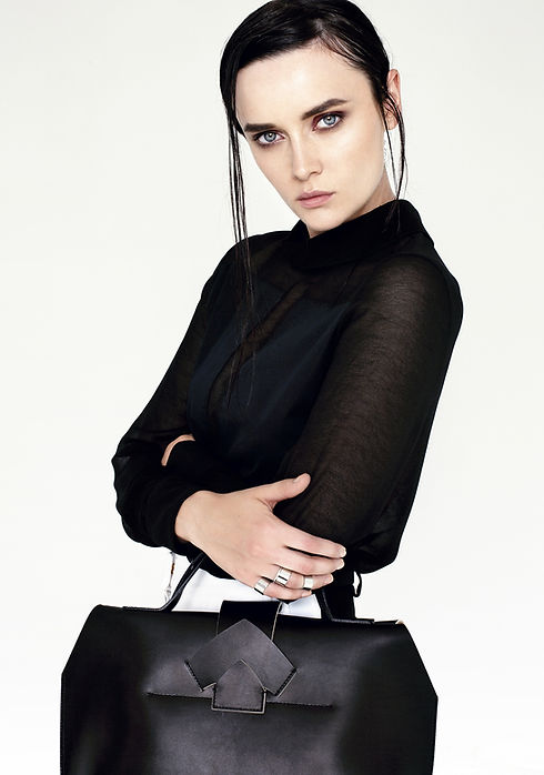 Model with Big Black Bag