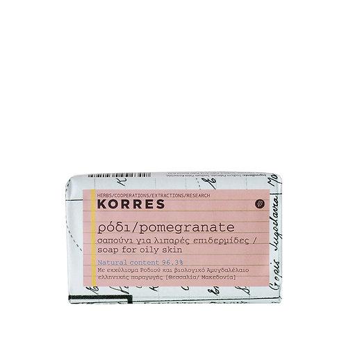 POMEGRANATE SOAP 125g -ΡΟΔΙ Σαπούνι για Λιπαρές Επιδερμίδες
