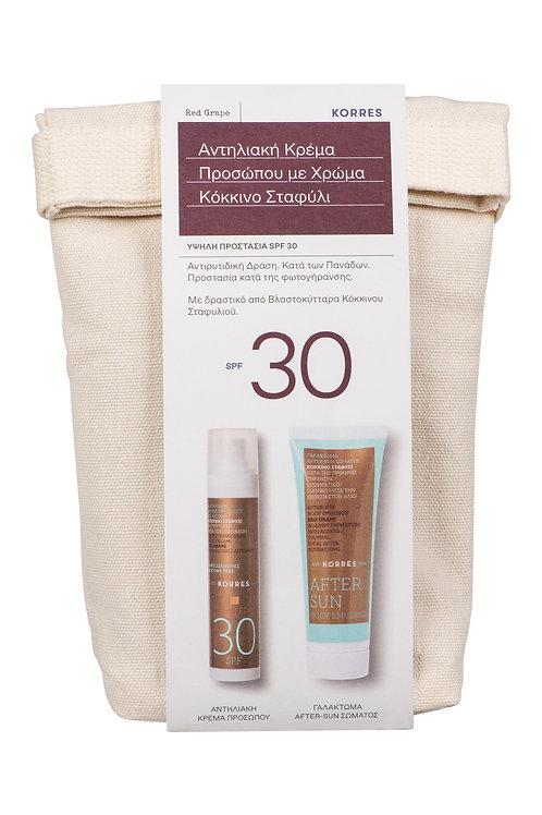 Σετ Αντηλιακή Κρέμα Προσώπου με Χρώμα SPF 30 & Γαλάκτωμα  Αftersun