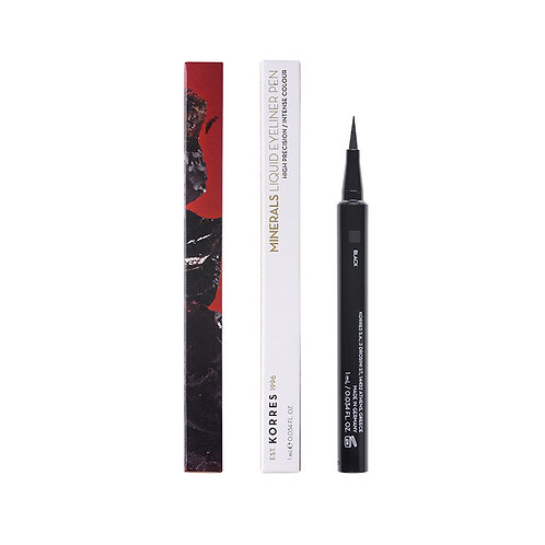 BLACK VOLCANIC MINERALS Liquid Eyeliner Pen 01 Black