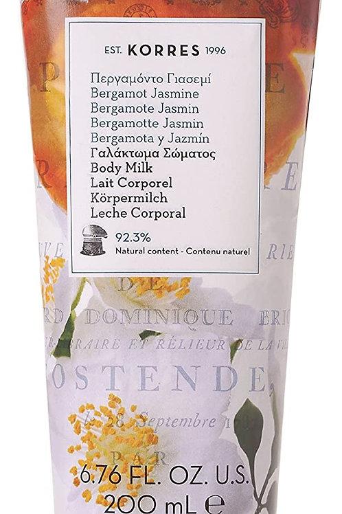 KORRES Natural Bergamot Jasmine Body Milk 200 ml