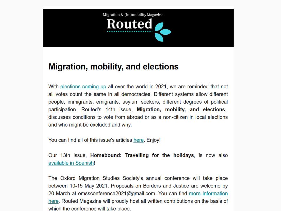 Newsletter 14/03/2021