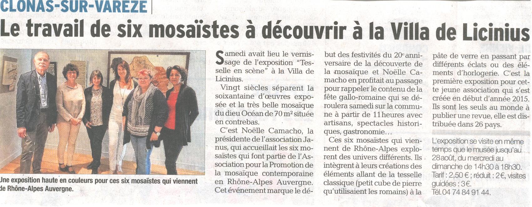 Dauphiné Libéré Expo Mosaique