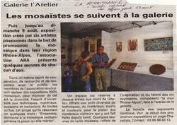 Article La renaissance Expo mosaique