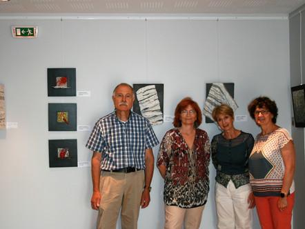Villa de Lucinius, à Clonas sur Varèze, Evelyne Begon et Eliane Demmerlé nous rejoignent et exposent