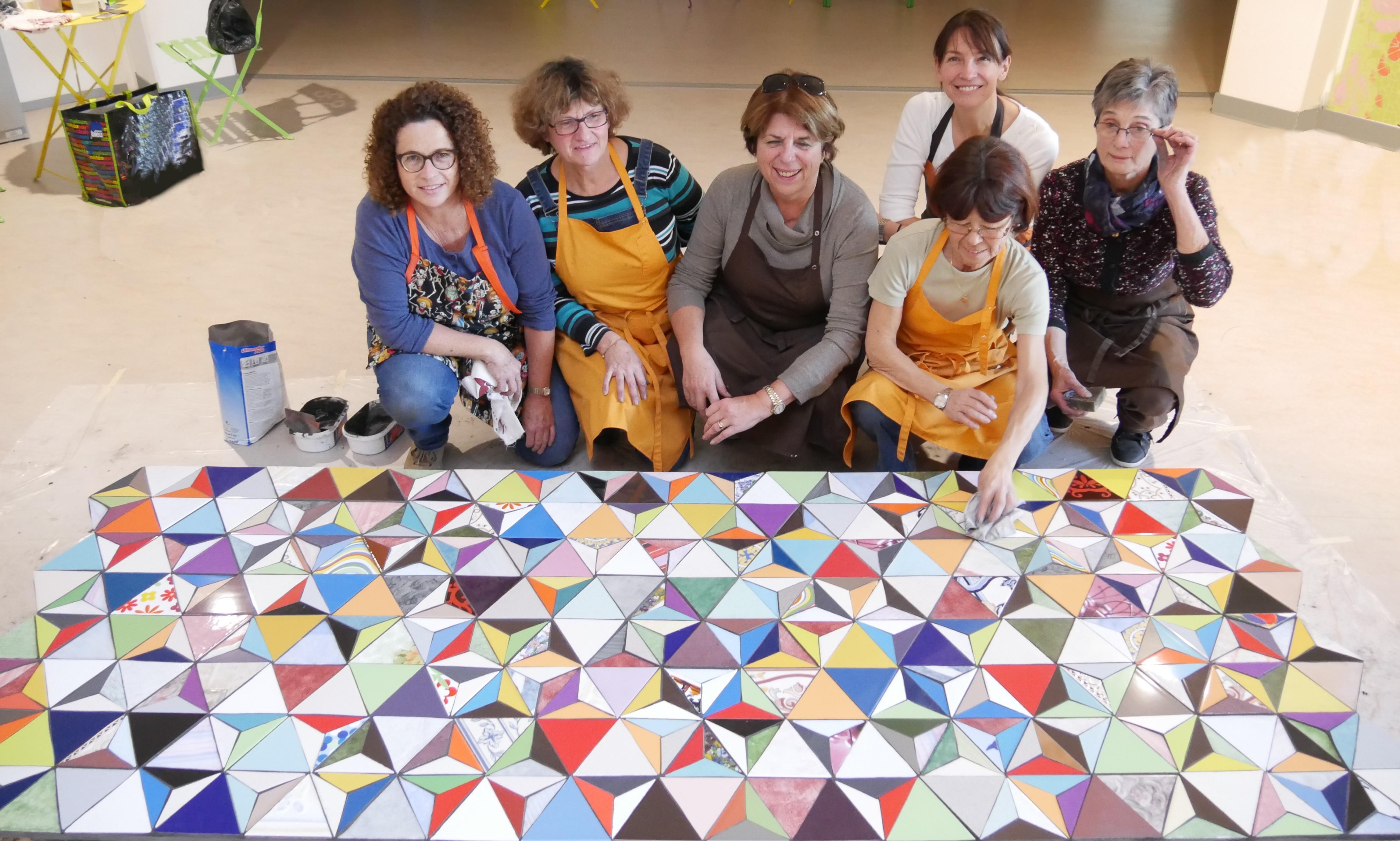Fresque mosaïque collective